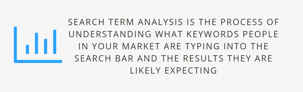 search term analysis